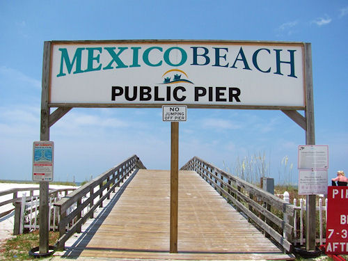 Mexico Beach Fishing Pier