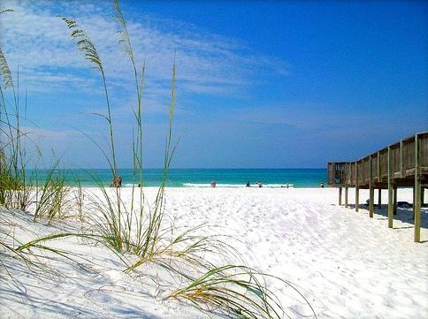 Mexico Beach White Sand Beaches Sea Oats